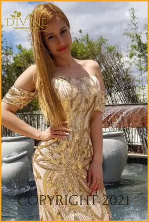 Cinderella Dress Medium / Gold Trending