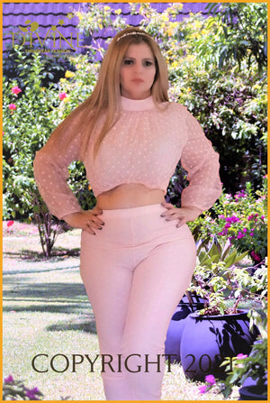 Imperial Lady (Pant Set) (Pink) Trending