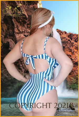 Happy Mother And Baby Monokini (Mother) Small / White Blue Monokinis