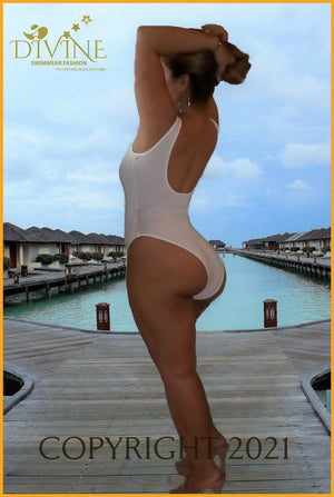 Miss Señorita Monokini One Piece & Cover Up (White) Monokinis