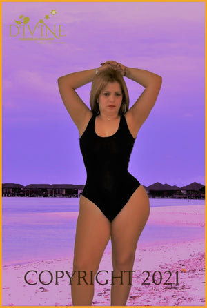 Miss Señorita Monokini One Piece & Cover Up (Black) Monokinis