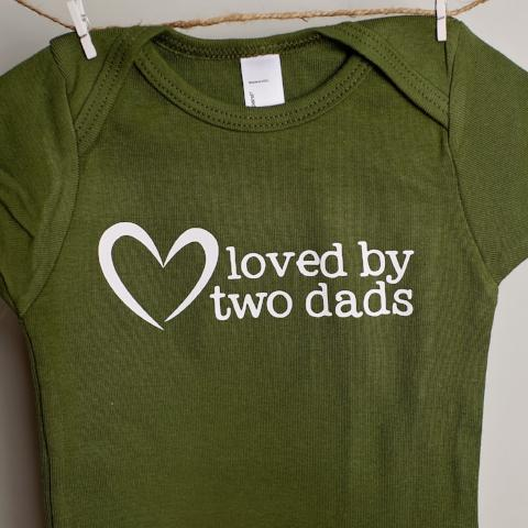 Loved by Two Dads One-Piece