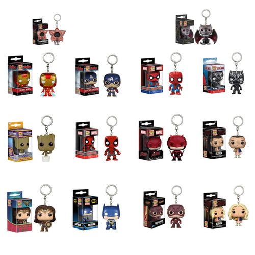 Chaveiros Funko POP! - Personagens DC, Marvel, Game of Thrones e Stranger Things.
