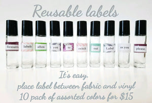 Reusable 10ml rollerbottle Labels