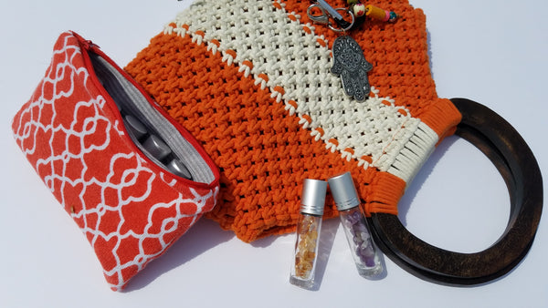 Essential Oil Bag- Coral-P1