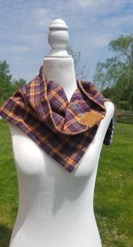 Womens Diffuser scarf- plaid