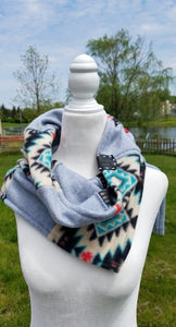 Womens pieced togehter Diffuser Scarf