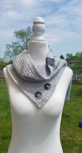 Womens knit diffuser scarf