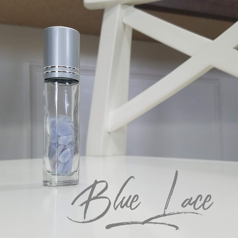 10ml Roller Bottle with Blue Lace crystals