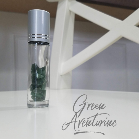 10ml Roller bottle With Green Aventurine Crystal