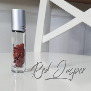 Crystal Roller bottle- Red Jasper