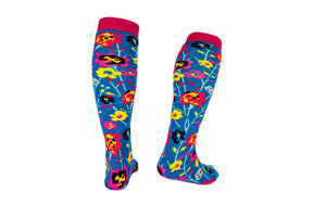 Funky Flower Squelch Welly Boot Adult Socks