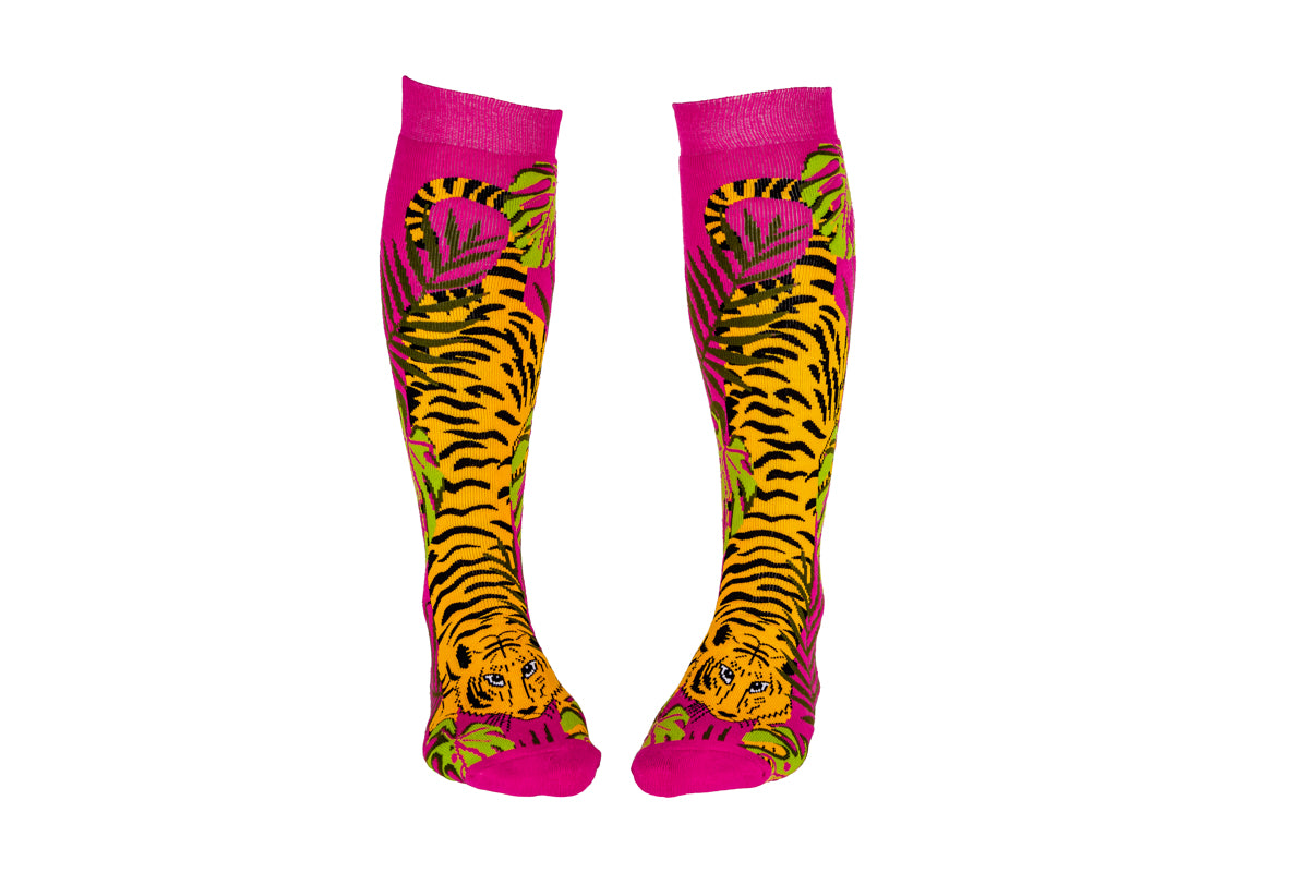 Tigers Squelch Welly Boot Adult Socks
