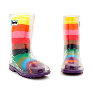 Rainbow Welly Sock