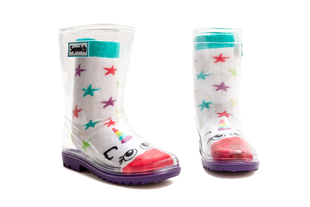 Star Unicorn Welly Sock