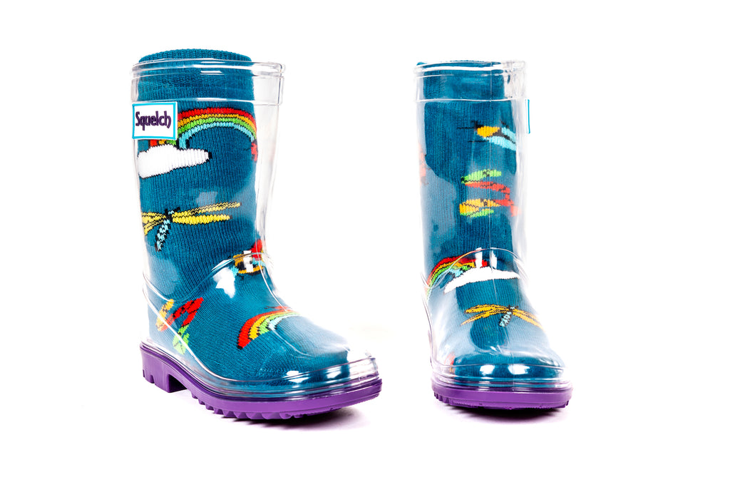 Rainbow Bugs Welly Sock