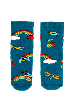 Rainbow Bugs Welly Tot Sock