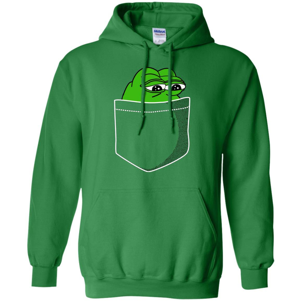 Meme T-Shirt - Pocket Pepe The Frog Feels Bad Man Dank Shirt