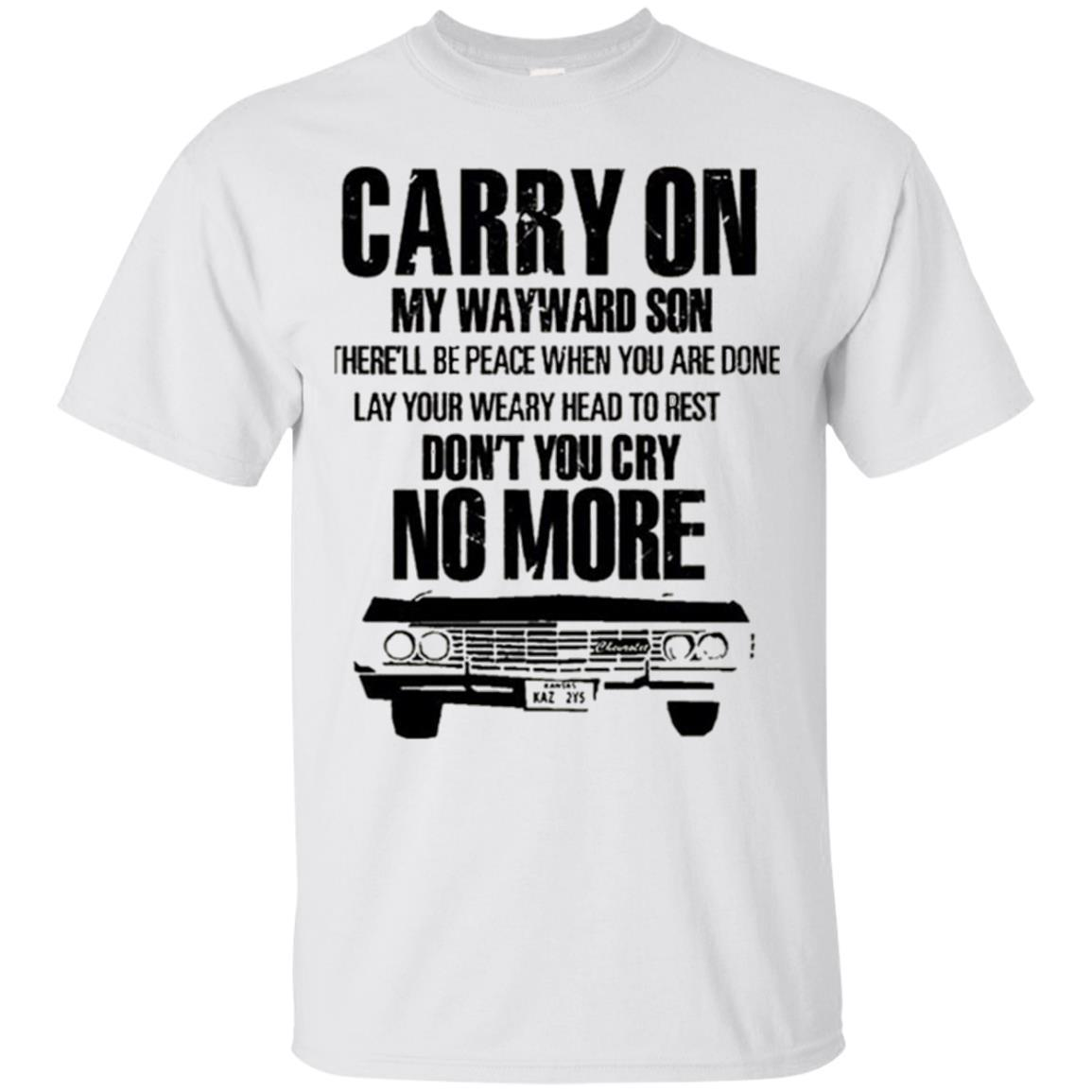 Carry On My Wayward Son Shirt – Carry One Supernatural T-Shirt