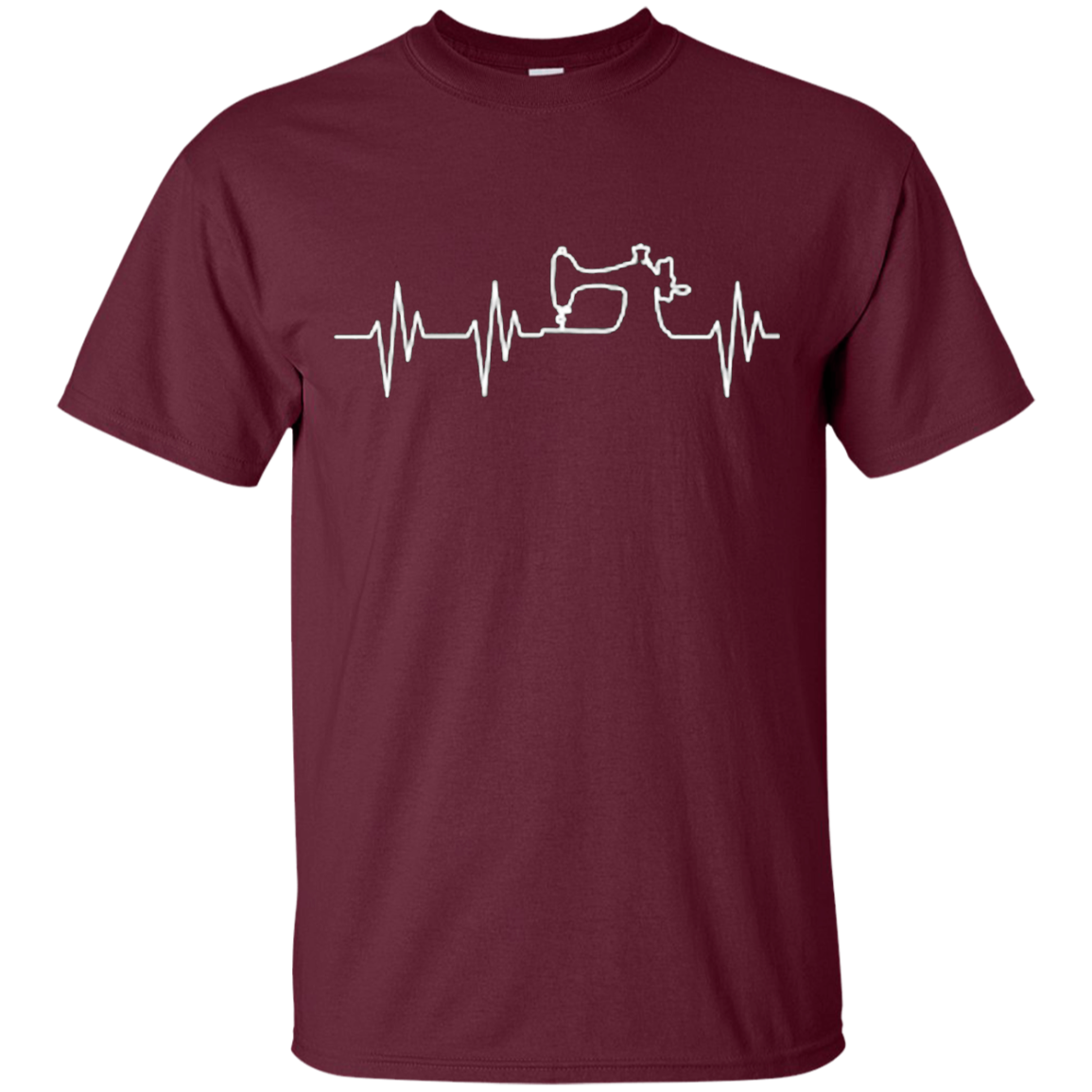 Sewing Machine Heartbeat T-Shirt Crafting Needle
