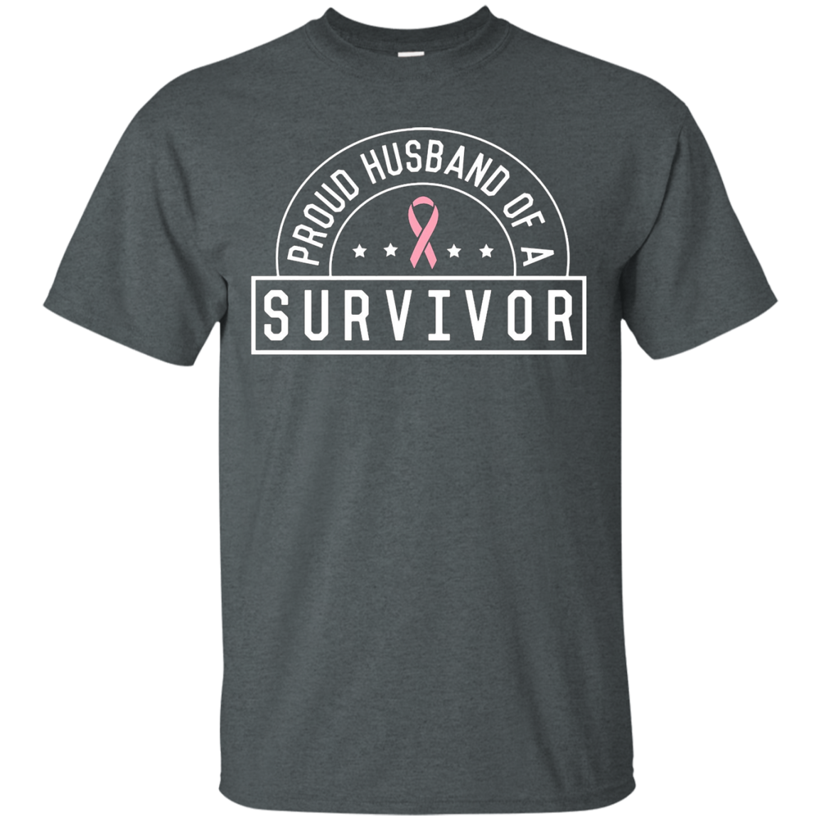 Breast Cancer T-shirt - Proud Husband Of A Survivor