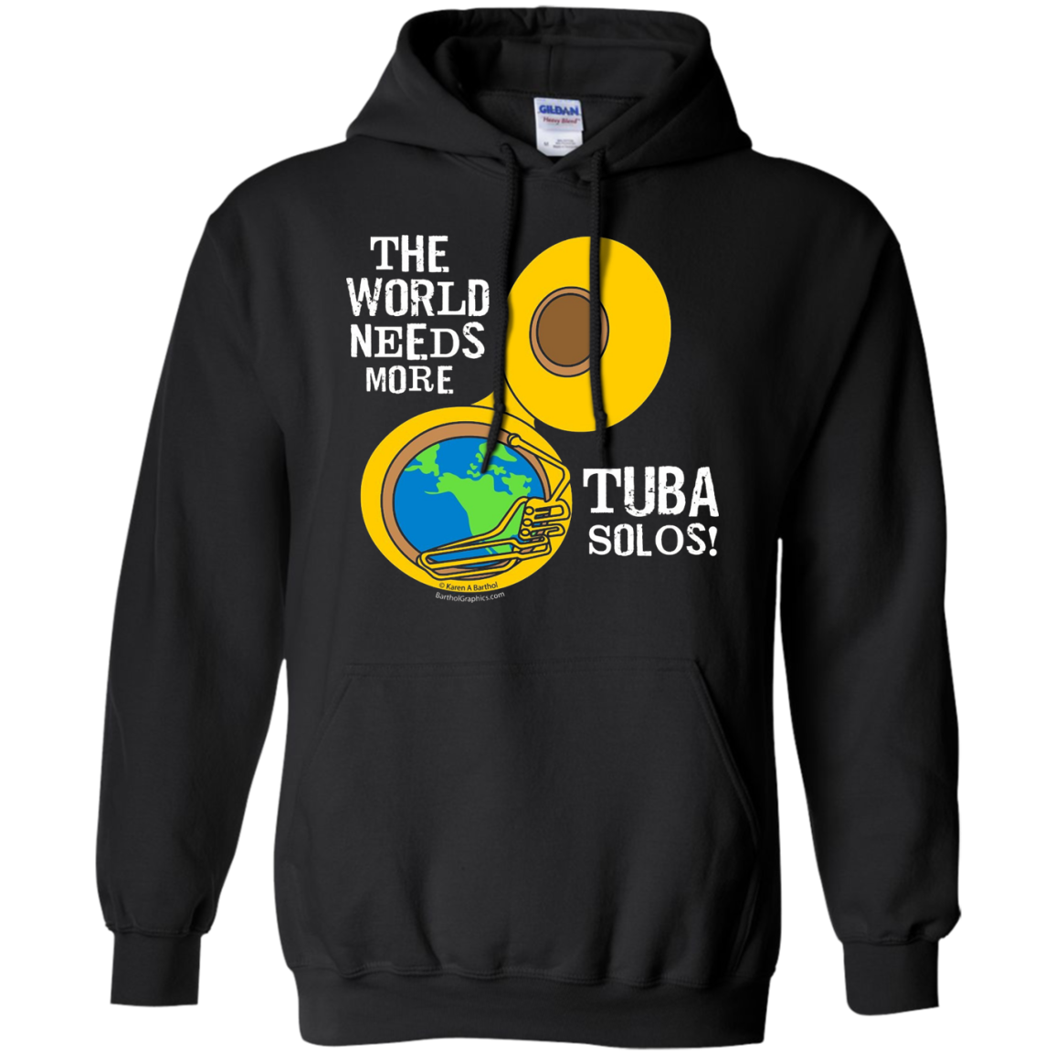 Tuba Solos Funny Musical Instrument T Shirt In White Text