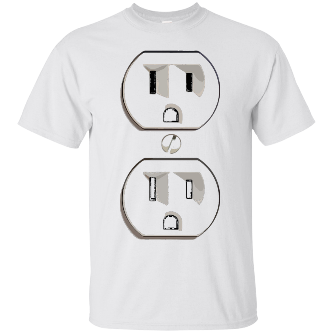 Electrical Outlet Funny Instant Halloween Costume T-Shirt