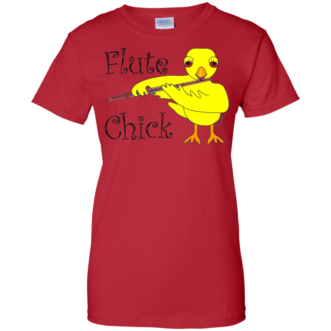 Flute Chick Text Funny Musical Instrument T Shirt