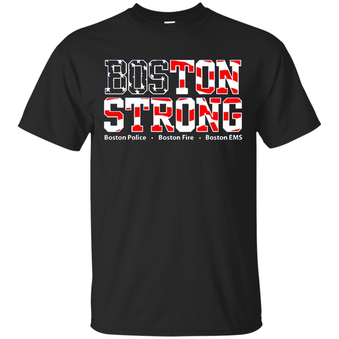 Boston Strong Marathon First Responder Flag Shirt EMT Fire