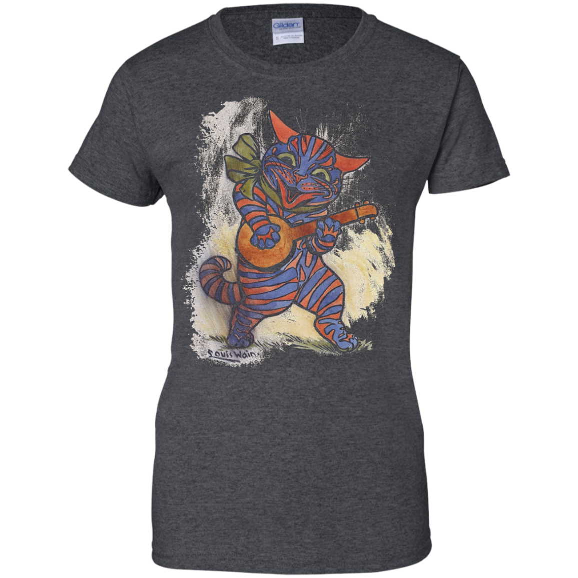 Cat Tshirt with a Louis Wain Illustration