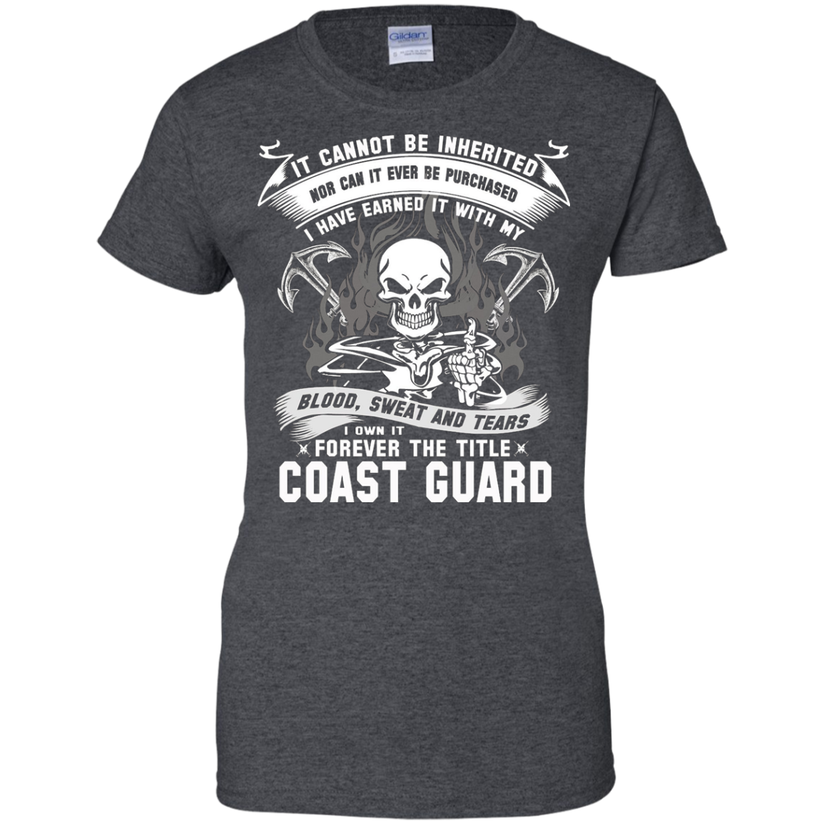 coast guard T-shirt , it cannot be inherited nor can it ever