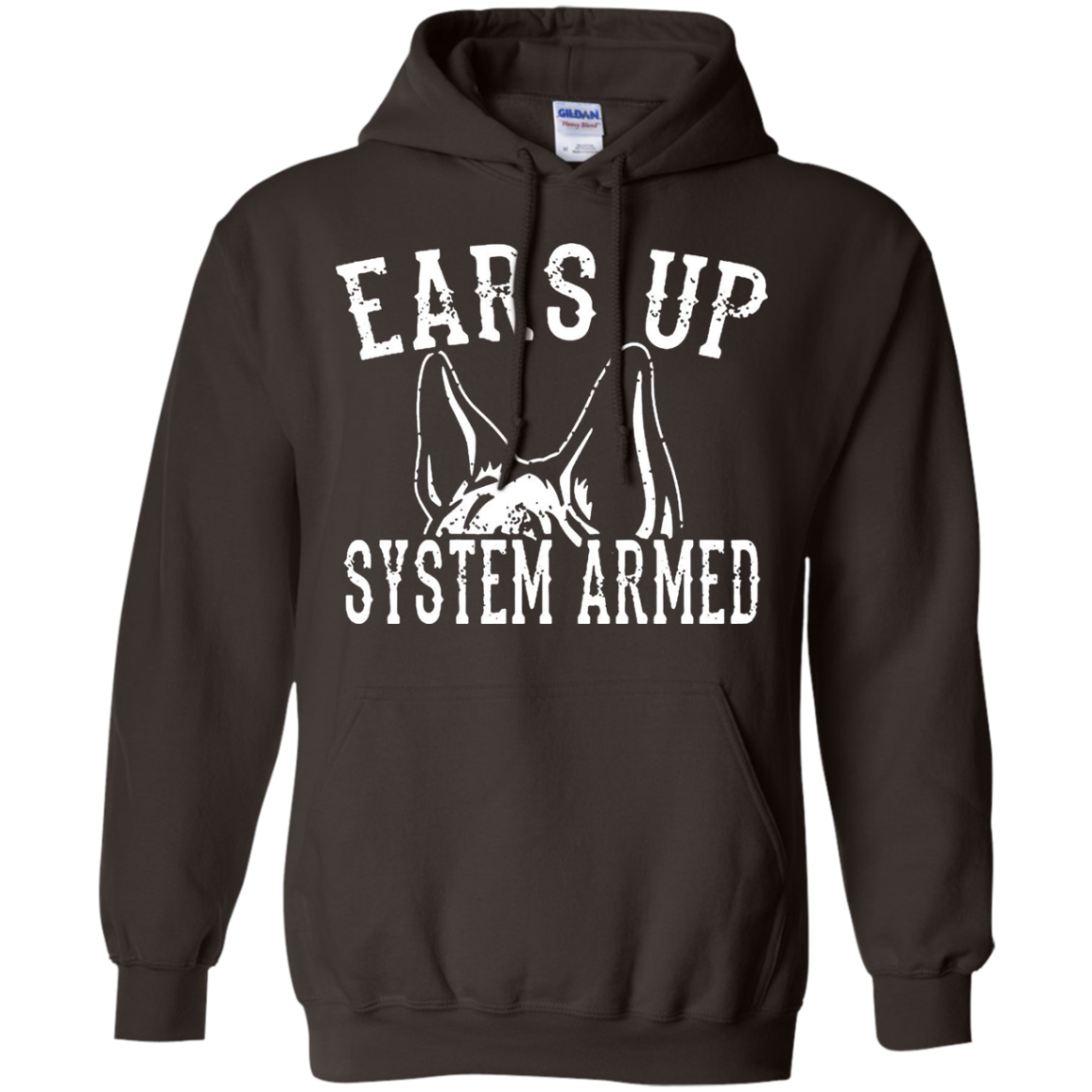 Ears Up System Armed German Shepard T Shirt