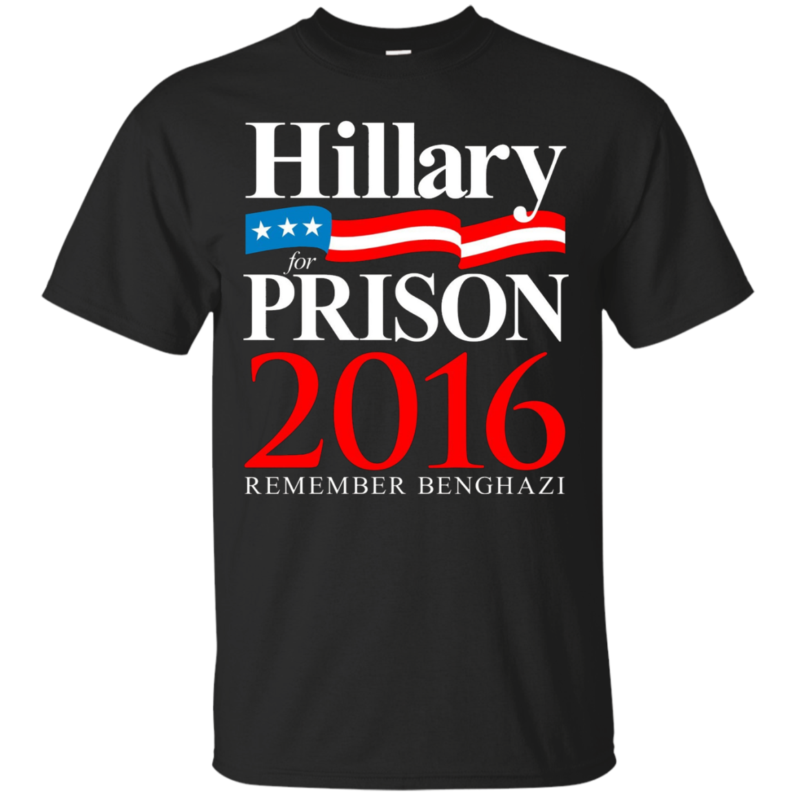 Hillary Clinton For Prison 2016 Political T-Shirt