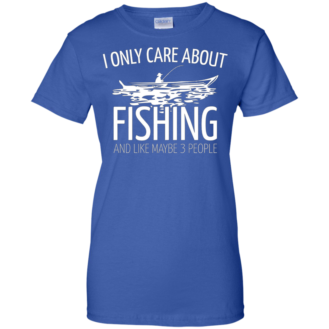 I Only Care About Fishing - Funny Fishing T-Shirts