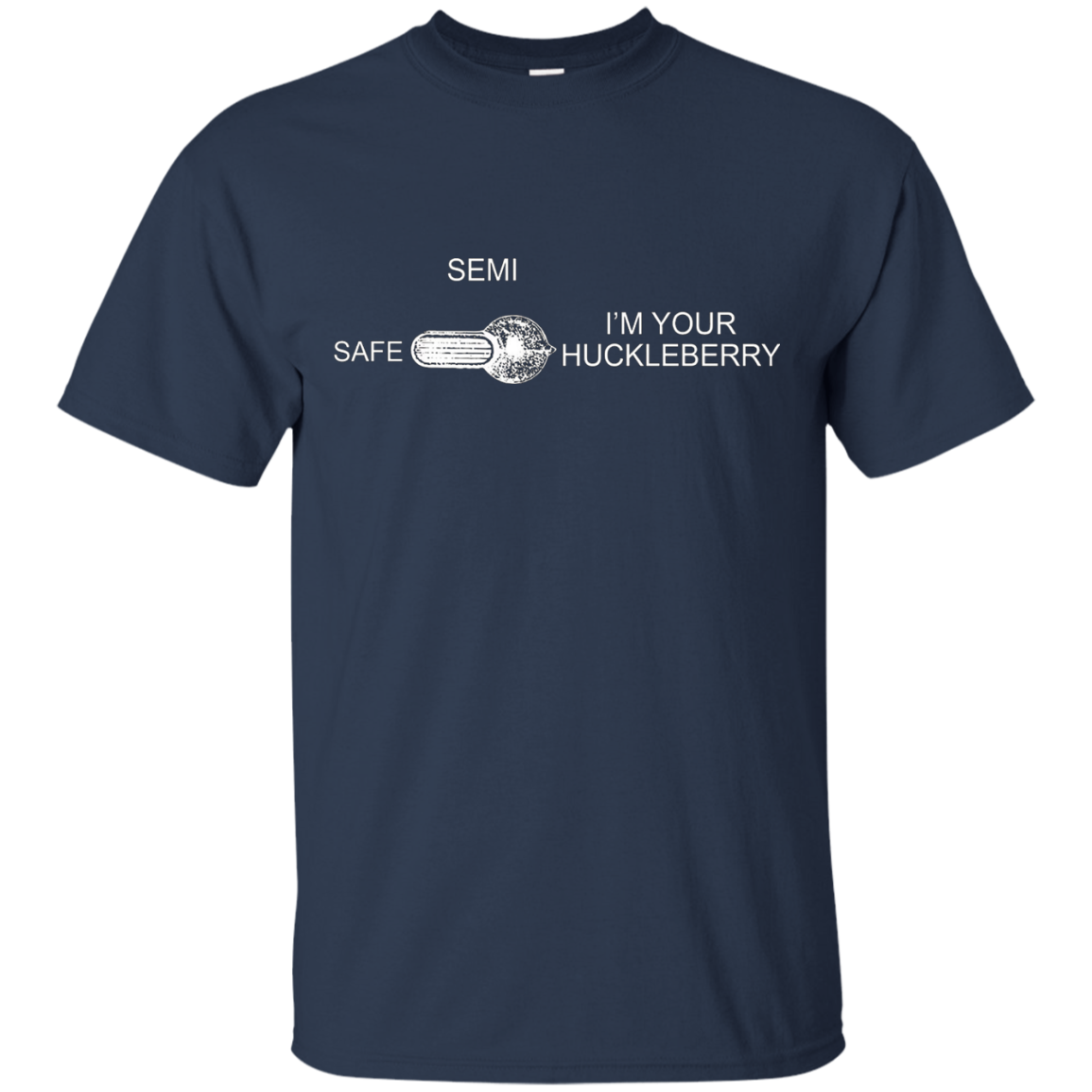 I'm Your Huckleberry Safety Selector TShirt Doc Holiday AR15