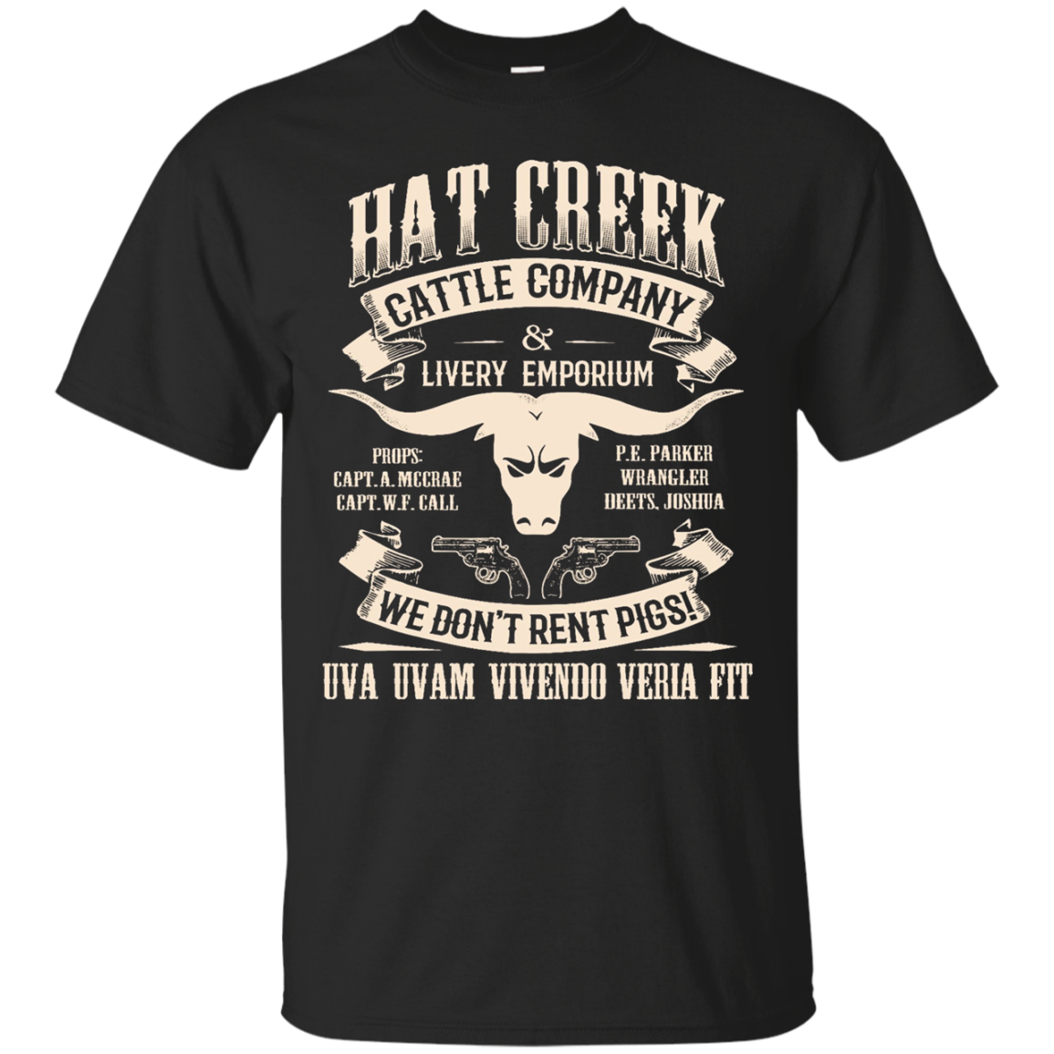 Lonesome Dove Hat Creek Cattle Company T-Shirt