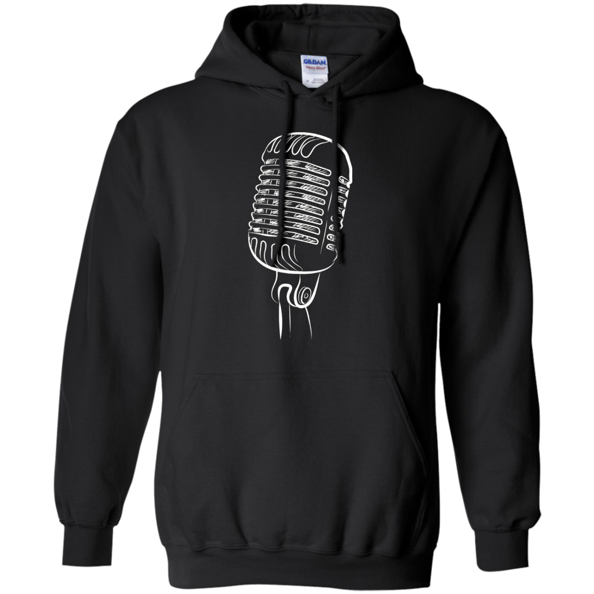 Microphone tee shirt for singers