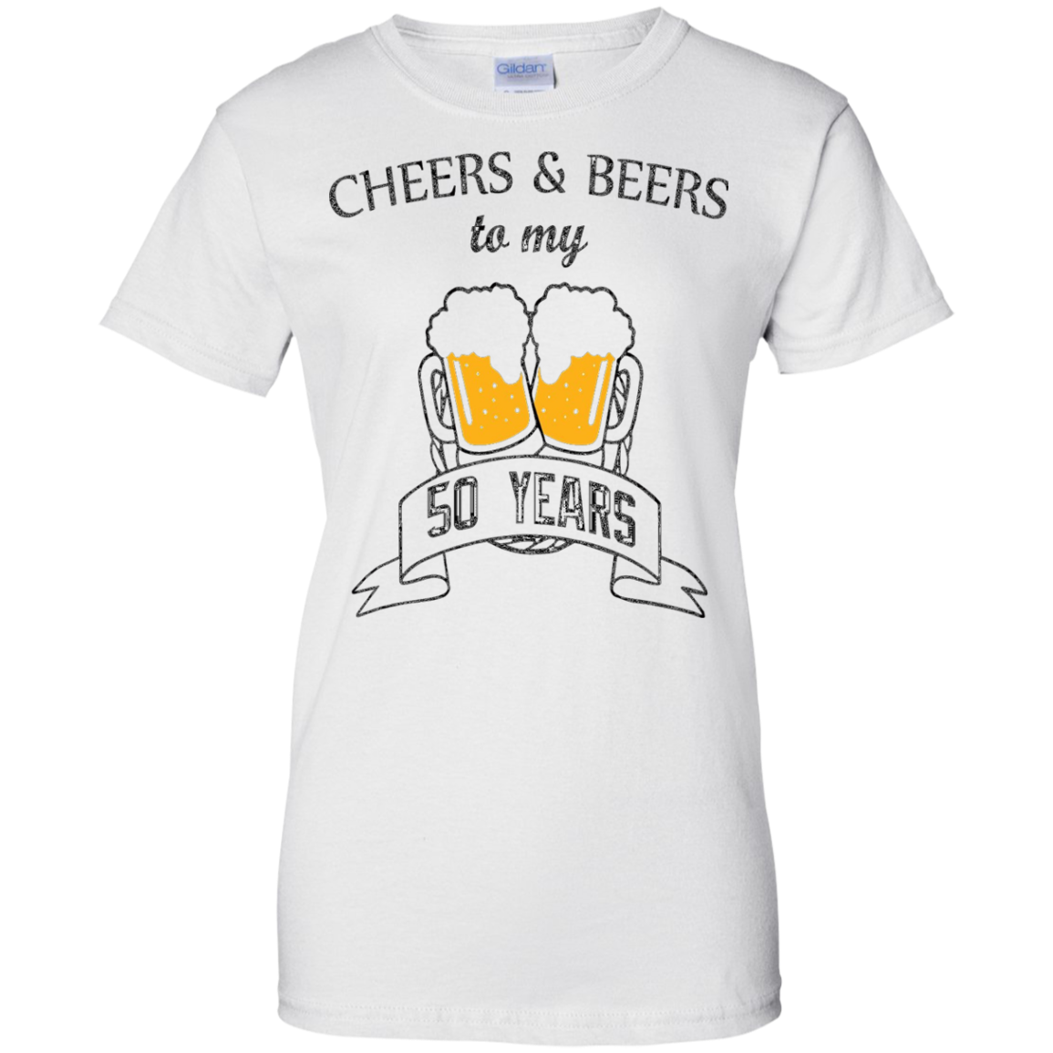 Cheers and Beers 50th Birthday Gift Idea Funny T-Shirt