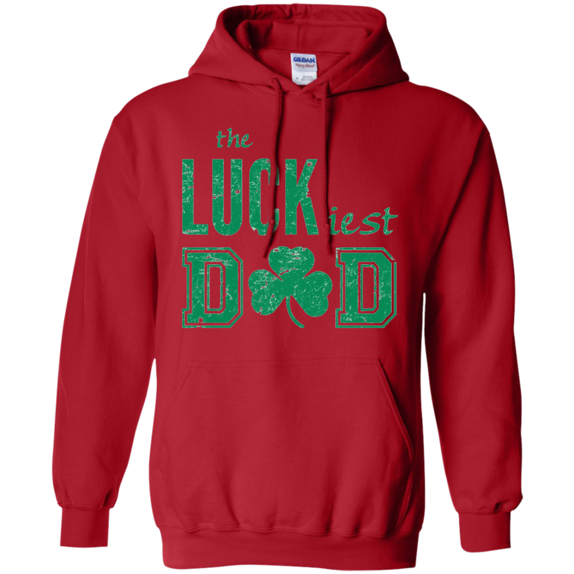 St. Patrick's Day Lucky Dad Distressed Irish T-Shirt - Green