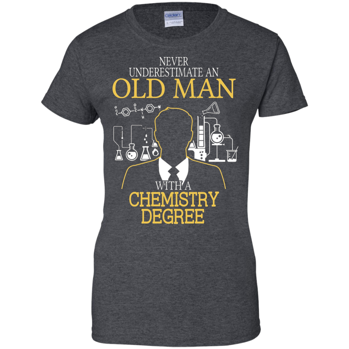 Chemistry shirt Old man with a Chemistry Degree T shirt