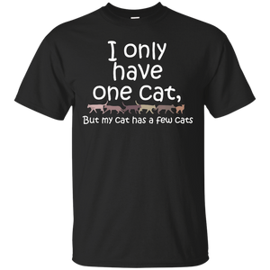 I Have One Cat But My Cat Has A Few Cats T-Shirts Gifts