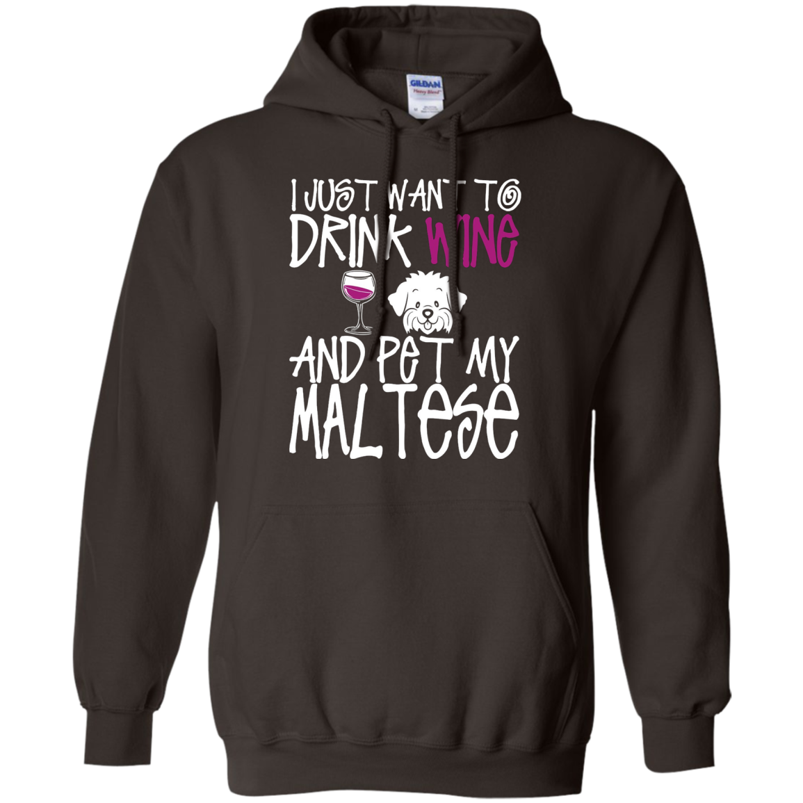 I Just Want To Drink Wine And Pet My Maltese Dog TShirt