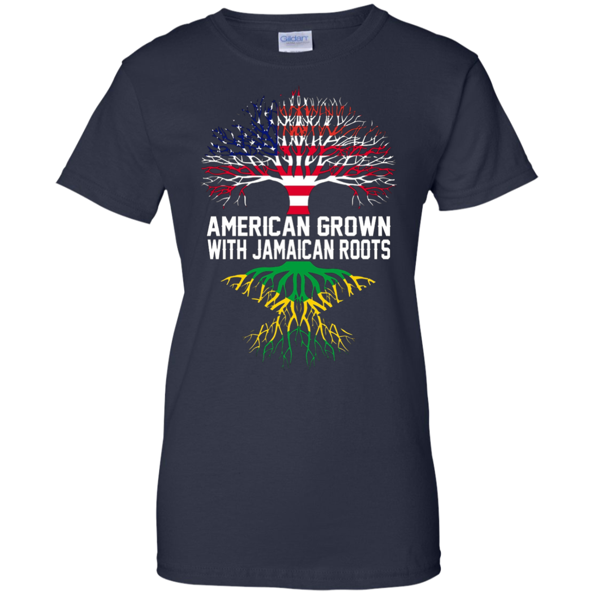 Jamaica Shirt - American Grown with Jamaican Roots T-Shirt