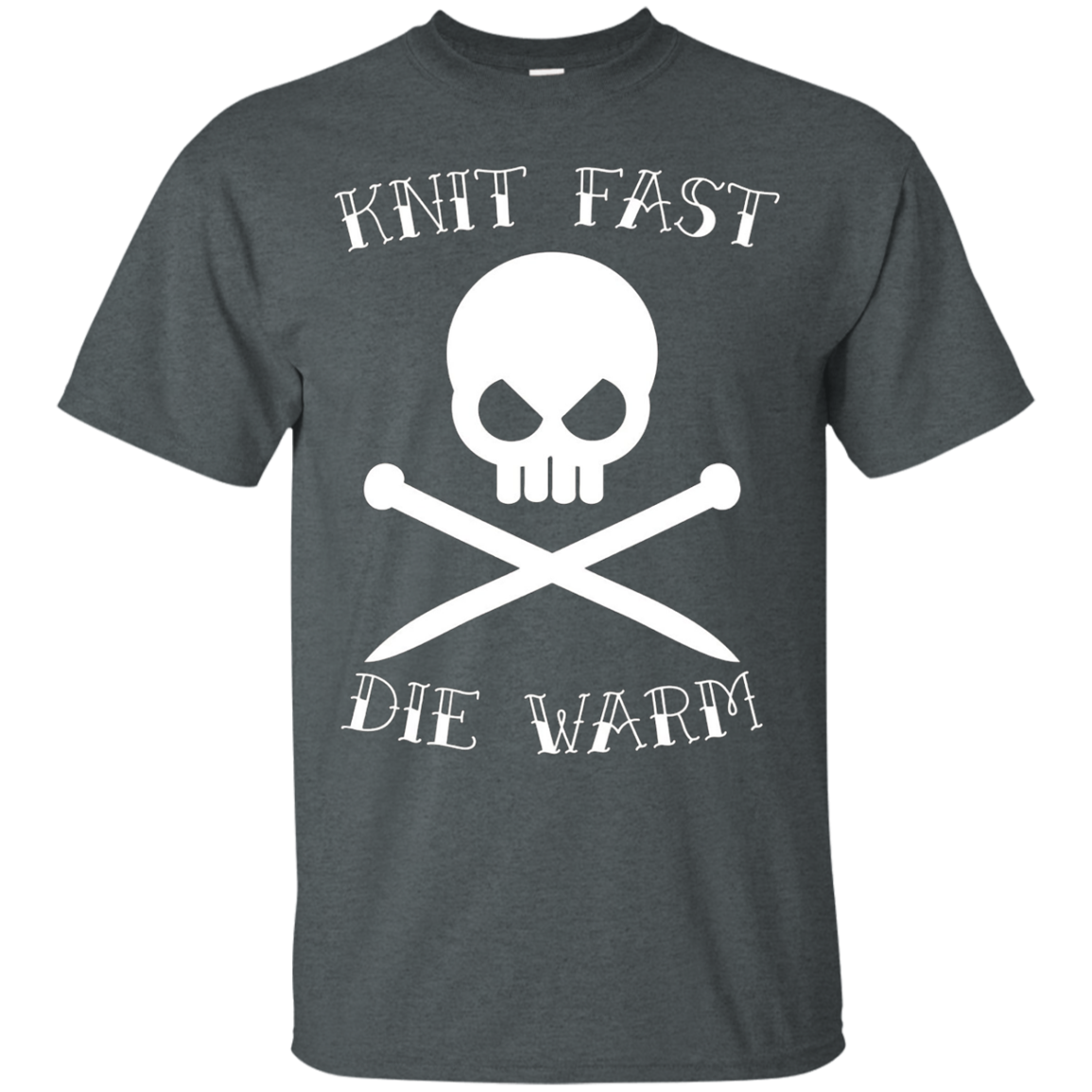 Knit Fast Die Warm Knitting T-shirt