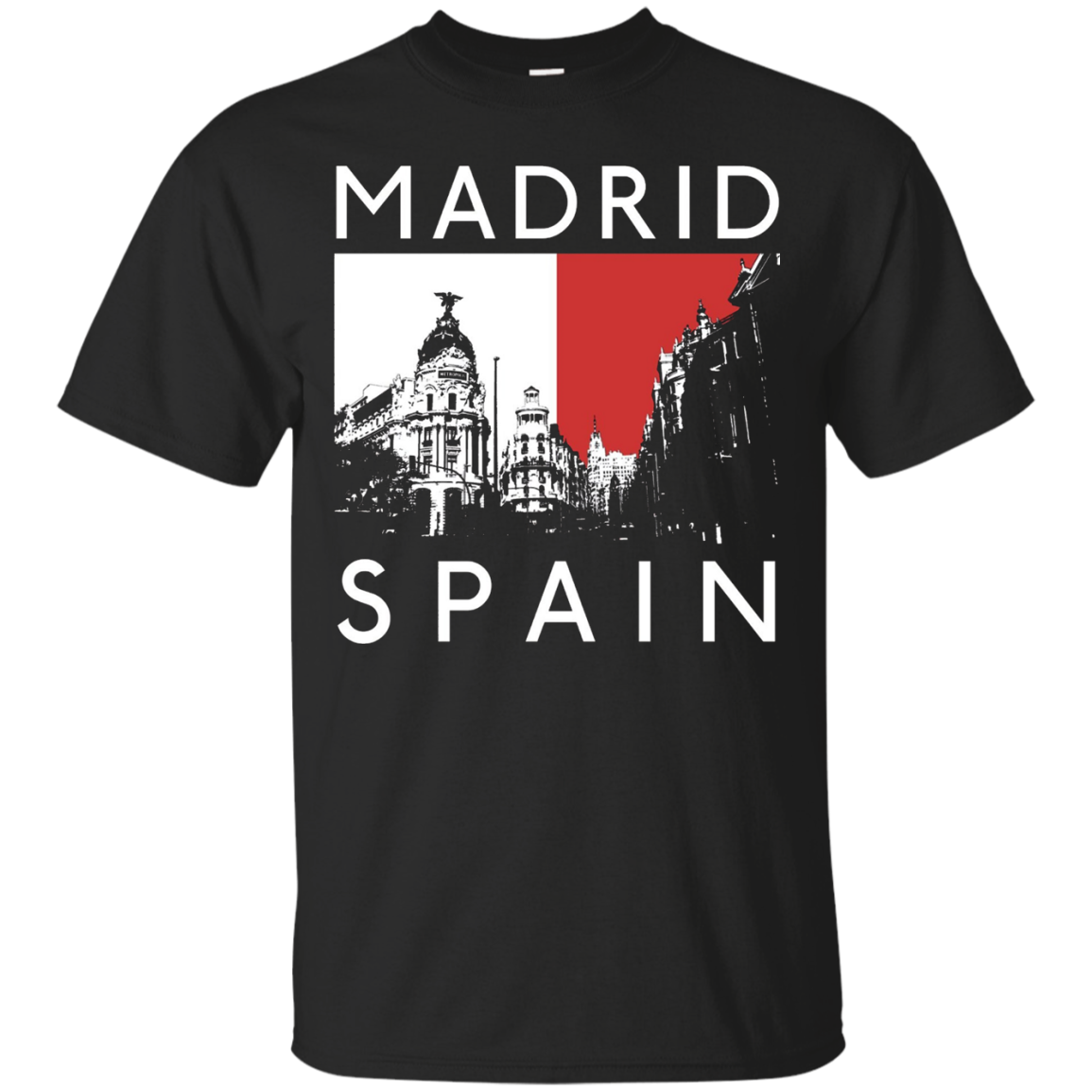 Madrid Spain Spanish Tourist Souvenir Espana Funny T-Shirt