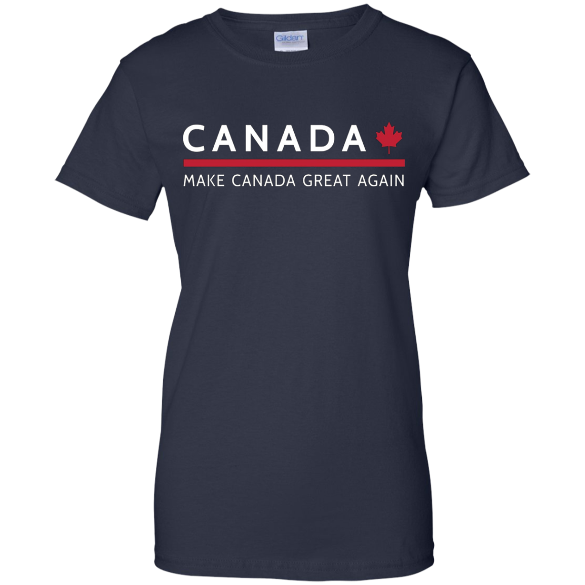 Make canada great again t-shirt trump 2016 parody shirt