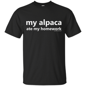 My Alpaca Ate My Homework T-Shirt