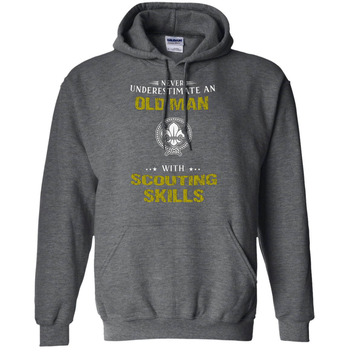 Never Underestimate An Old Man With Scouting Skills T-shirt