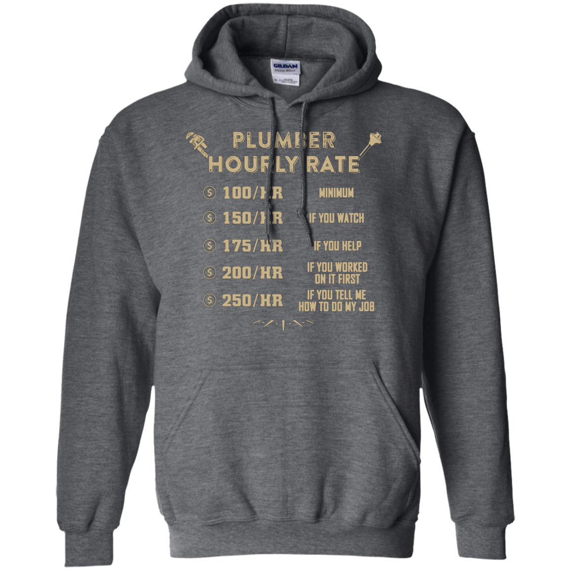 Plumber T-Shirt - Plumber Hourly Rate