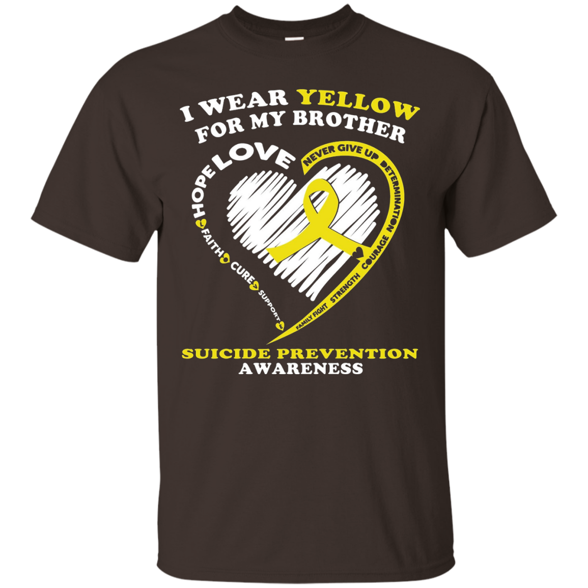 Suicide Prevention Shirt - I Wear Yellow For My Brother